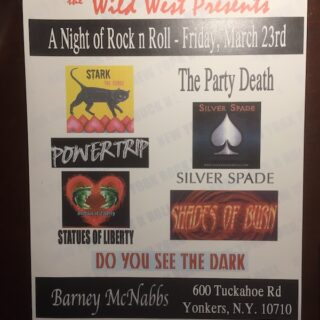A night of Rock n'Roll at Barney McNabbs in Yonkers