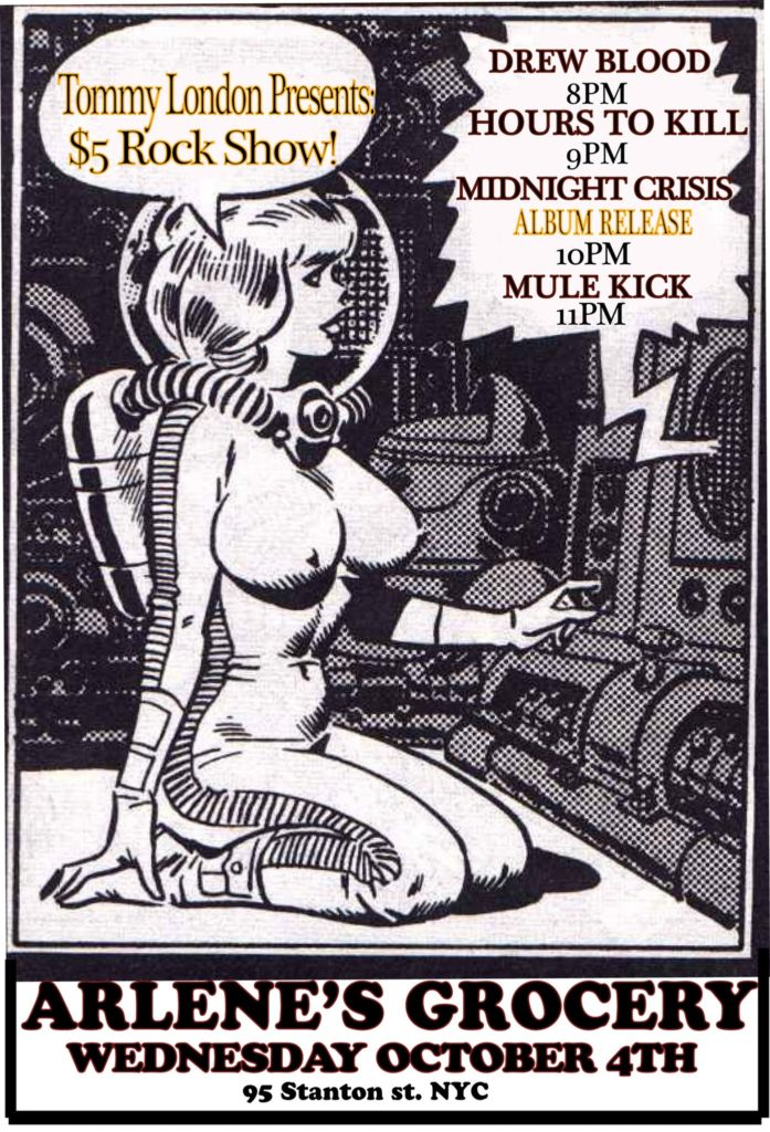 $5 Rock Show feat. Mule Kick, Midnight Crisis, Hours to Kill, Drew Blood