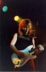Bernie Torme at the infamous Marquee Club in London in the early 80s