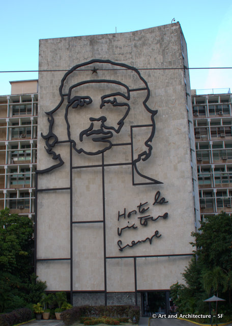 """Che Guevara"" in Havana Cuba based on artwork originally conceived and done by Jim Fitzpatrick."