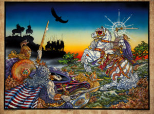 Lugh-the-Il-Dana, illustration found in the opening pages of The Silver Arm and found also on www.jimfitzpatrick.com