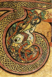 T from the Book of Kells