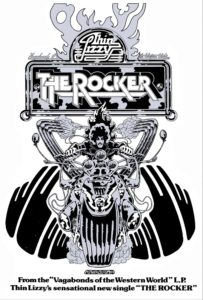 Thin Lizzy Rocker with the original logo. Artwork and logo done by Jim Fitzpatrick
