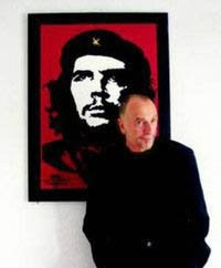 Jim Fitzpatrick in front of his Che Guevara