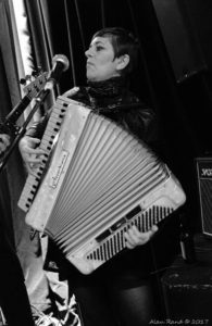 Marni Rice on Accordion (Photograph by Alan Rand)