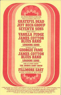 The Poster announcing the Jeff Beck Group's first show at the Fillmore East.
