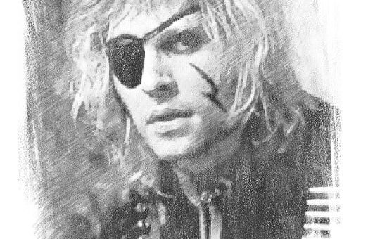 Bernie Torme (Complete with eye patch and lightning bolt!)
